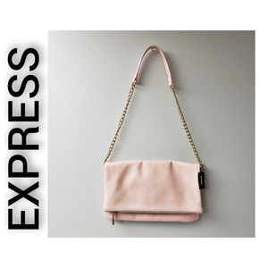 Express NWT Shoulder Bag Peach and Gold